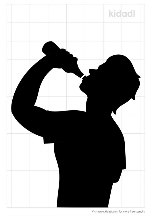 person-drinking-beer-stencil