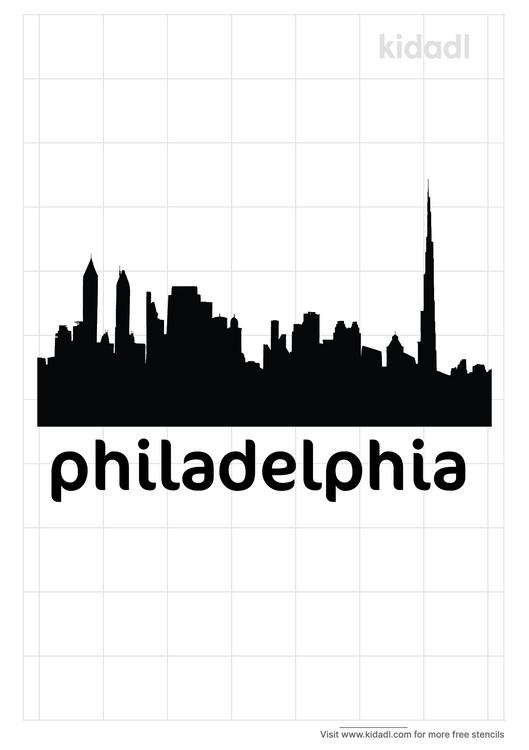 philadelphia-skyline-stencil