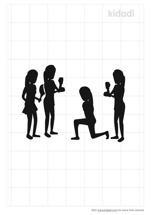 players-group-stencil