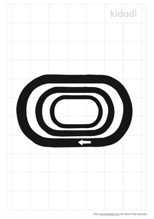 playground-track-line-stencil