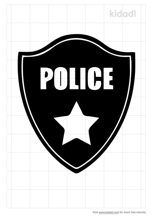 police-badge-stencil