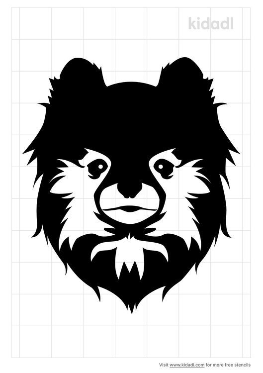 pomeranian-face-stencil