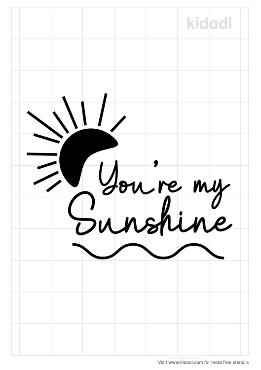 printable-stencil-you-are-my-sunshine
