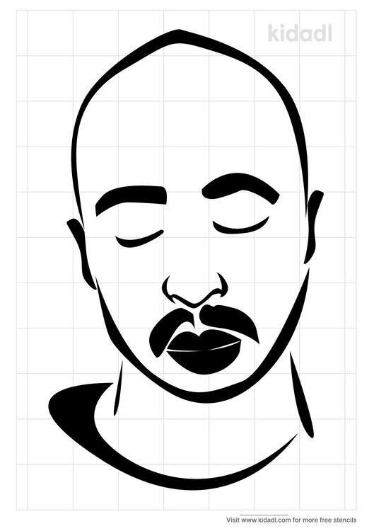 rapper-2pac-stencil