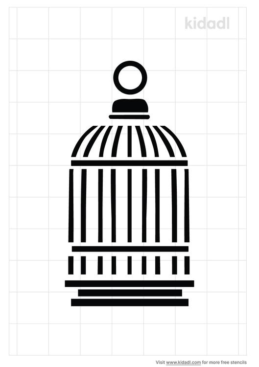 raven-cage-stencil