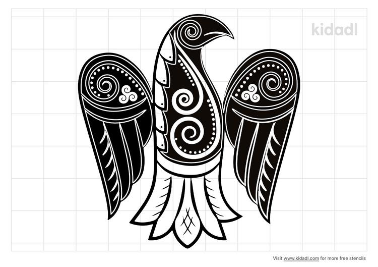 raven-celtic-stencil