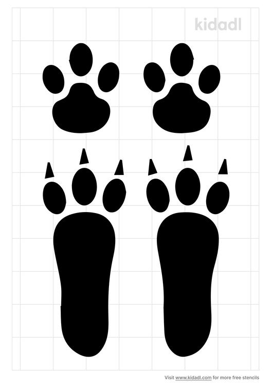 realistic-bunny-footprint-stencil