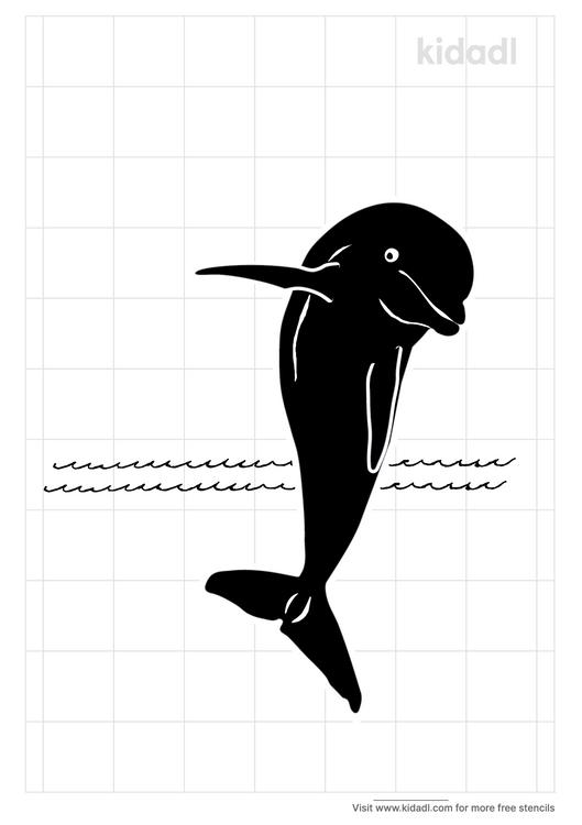 realistic-dolphin-stencil