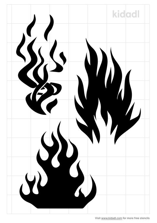 realistic-flame-stencil