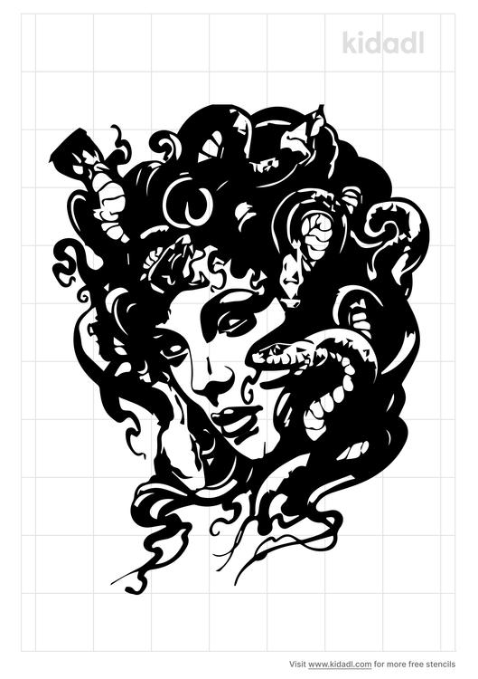 realistic-medusa-tattoo-stencil