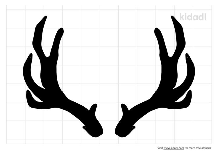reindeer-antlers-stencil