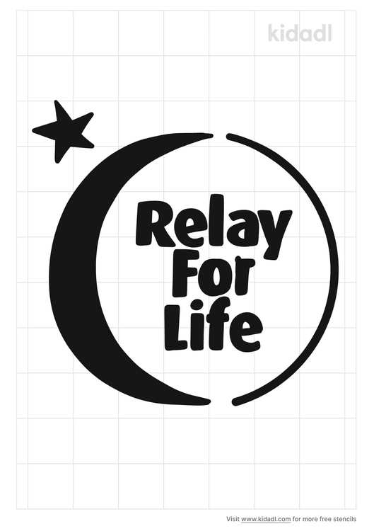 relay-for-life-stencil