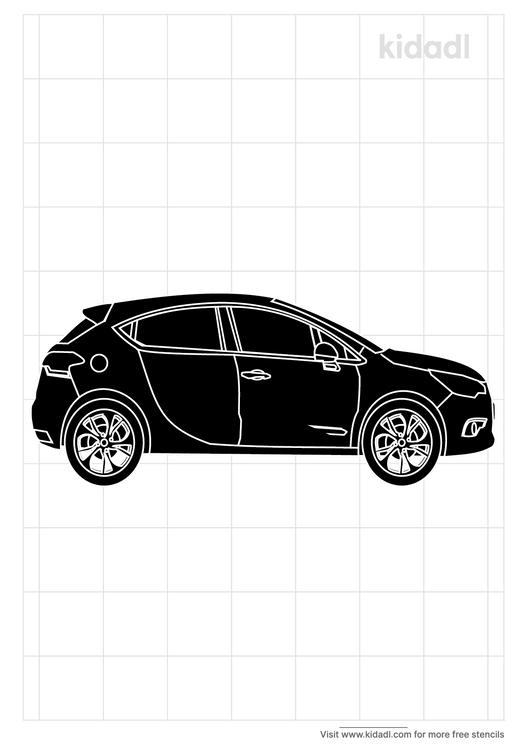 remote-control-car-stencil