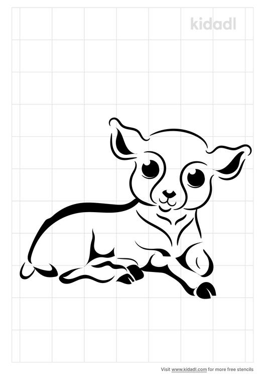 resting-lamb-stencil