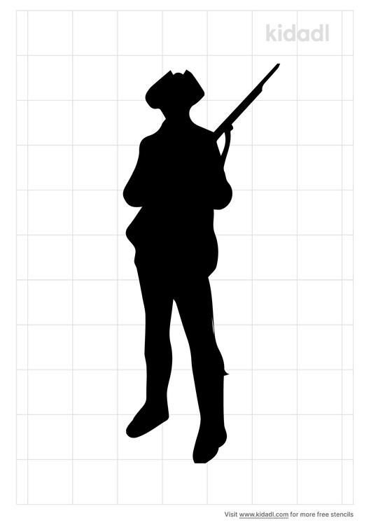 revolutionary-soldier-stencil