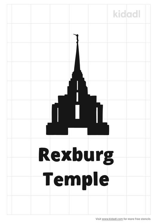 rexburg-temple-stencil