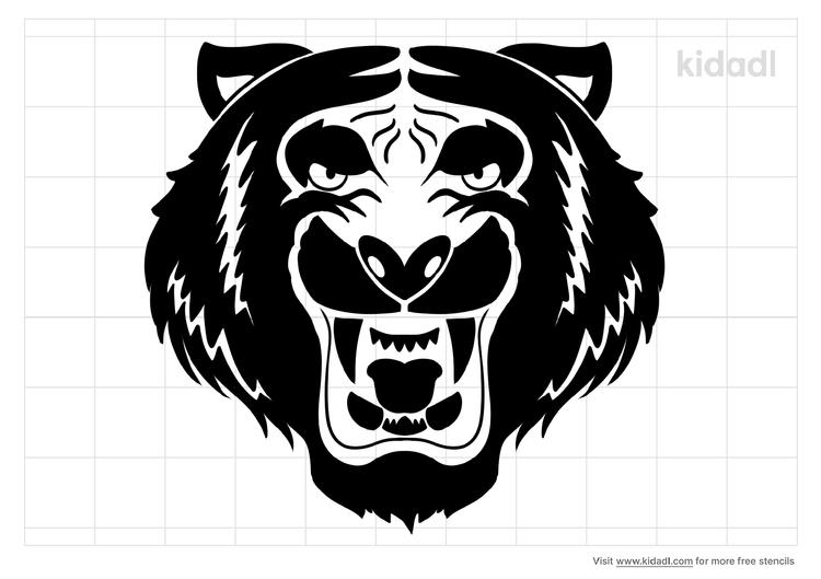roaring-tiger-stencil