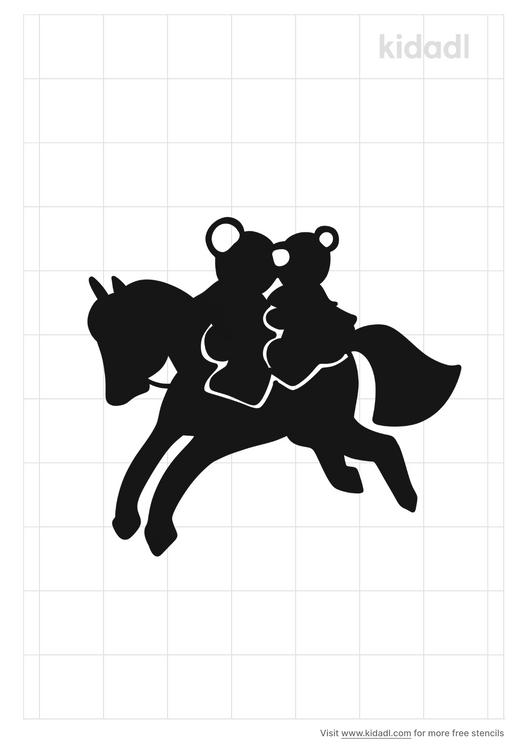 rocking-horse-stencil