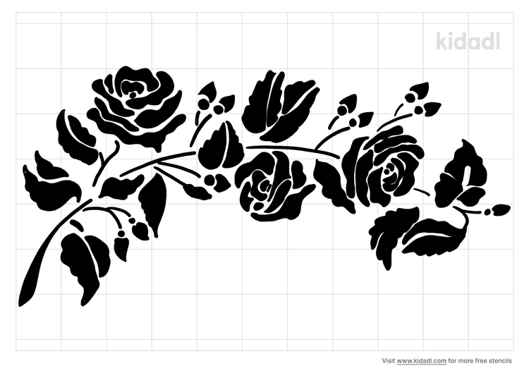 rose-of-green-vine-stencil