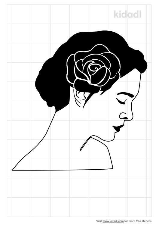 rose-wreath-woman-stencil