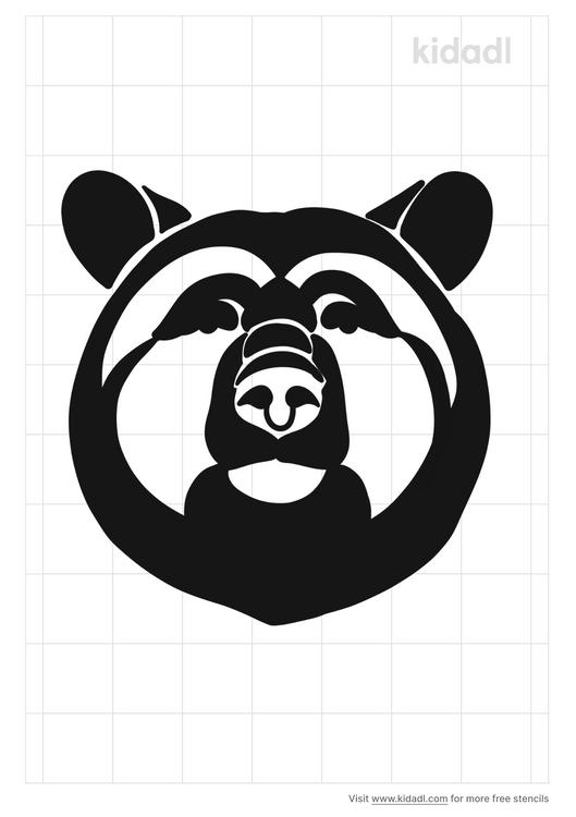 russian-bear-stencil