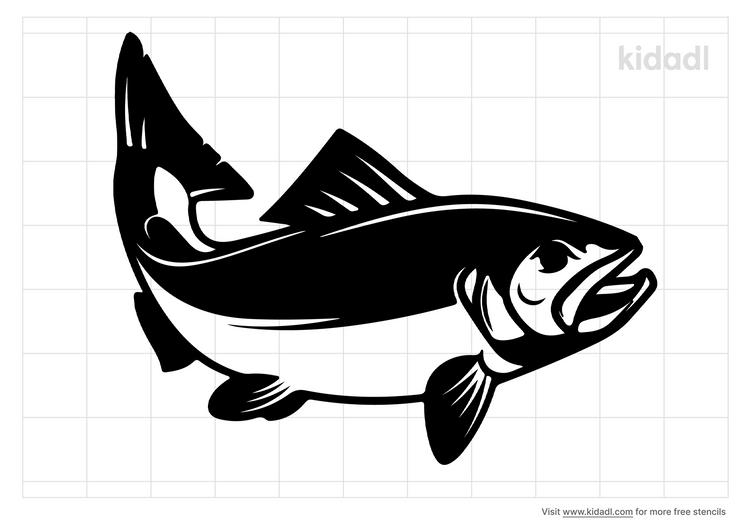 salmon-stencil