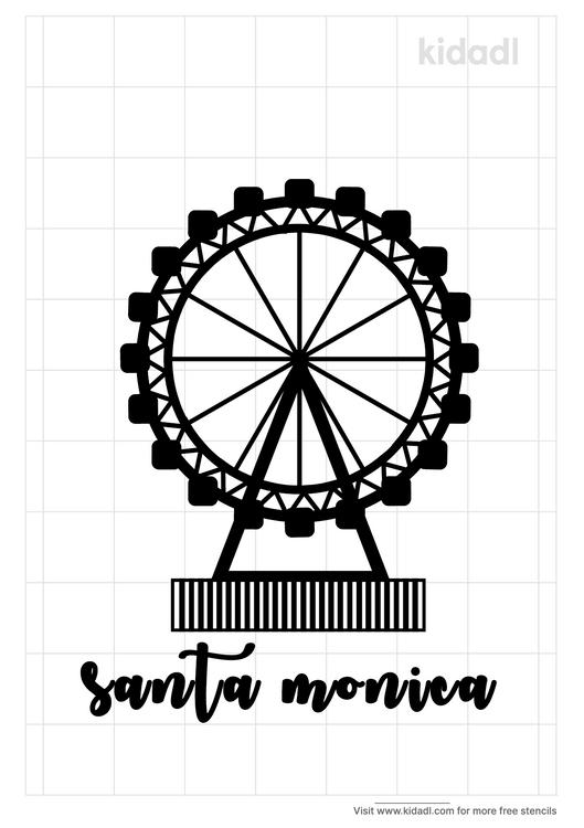 santa-monica-stencil