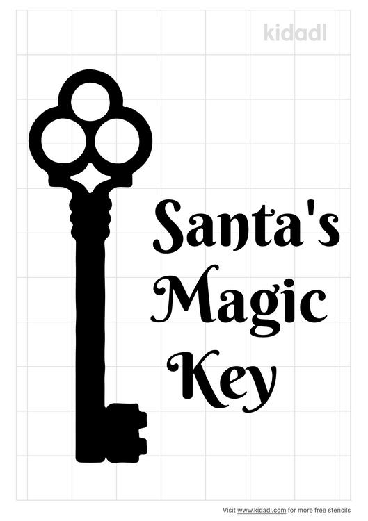 santa-s-magic-key-stencil