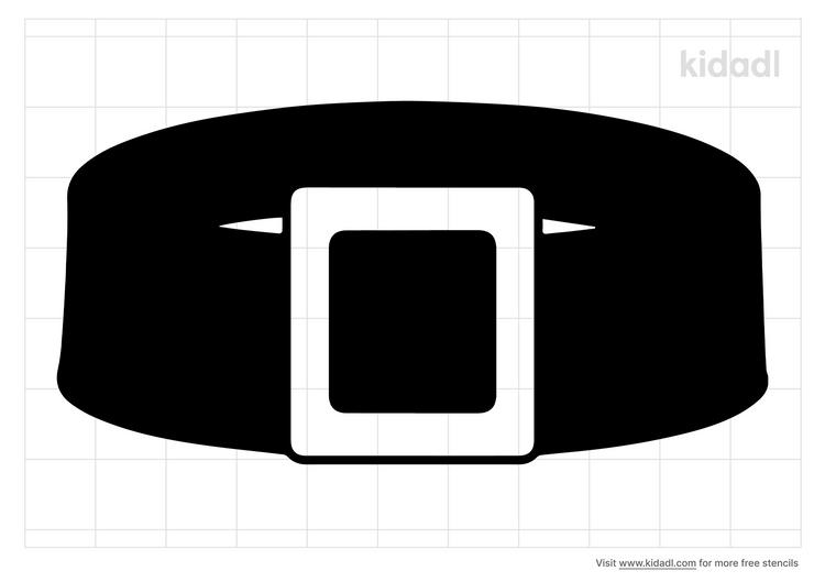santas-belt-stencil