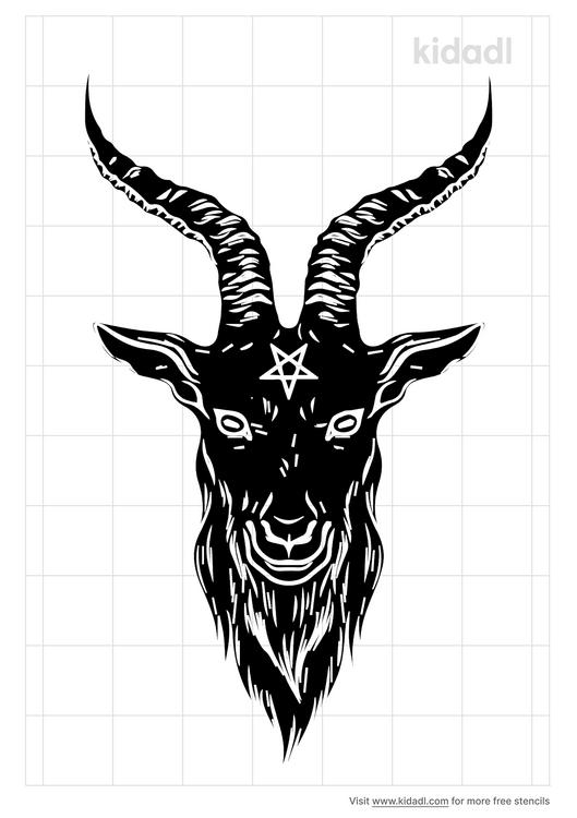 satanic-goat-head-stencil