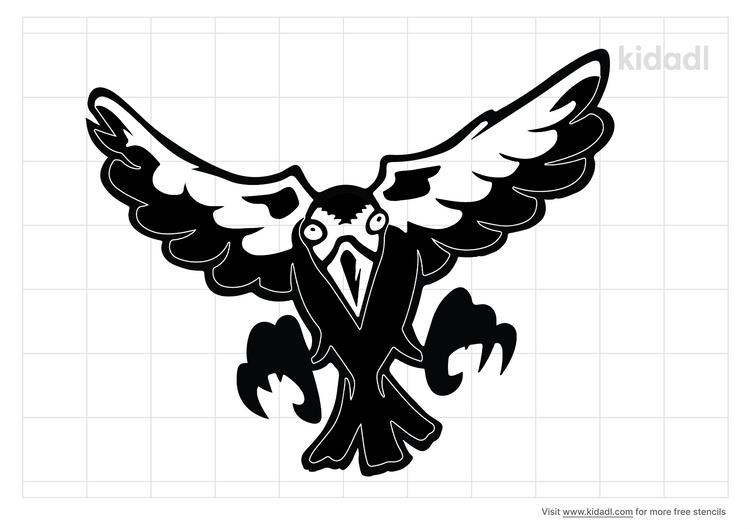 scary-bird-stencil