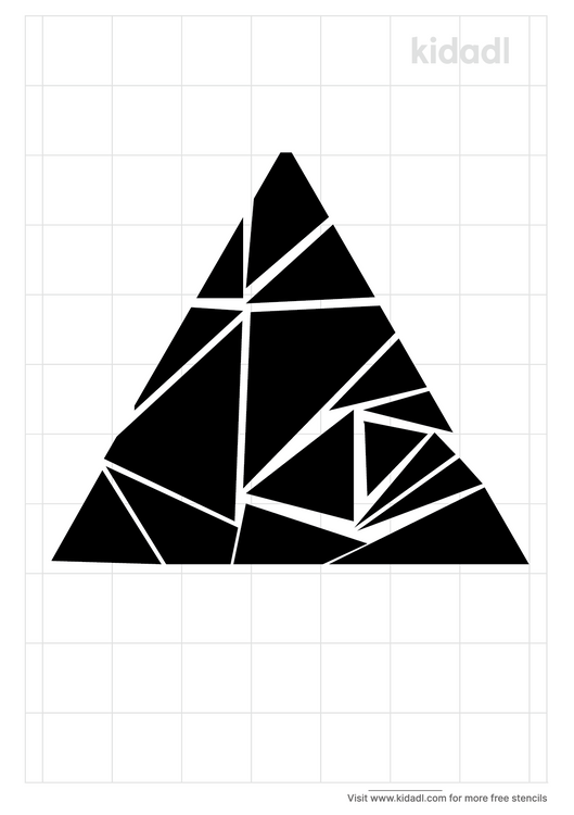 scattered-triangle-stencil-pattern