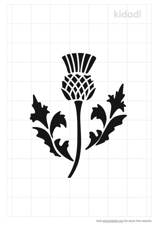 scottish-thistle-stencil