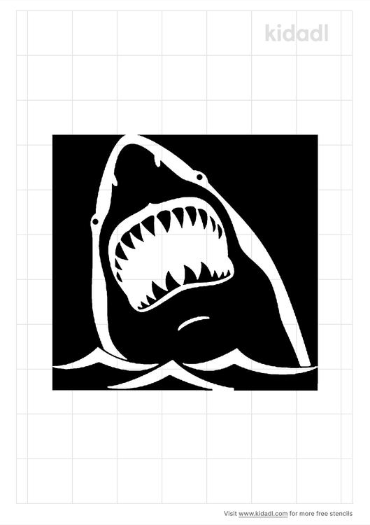 shark-biting-stencil