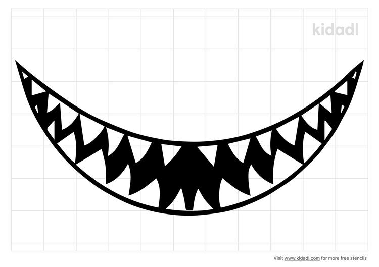 shark-mouth-stencil