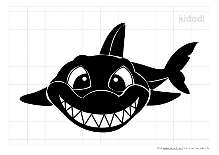 shark-smile-stencil