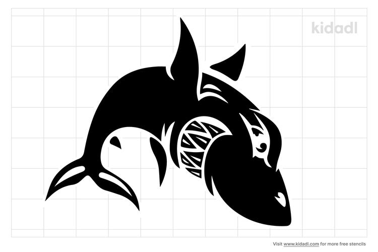 shark-tribal-stencil