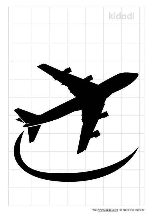 simple-airplane-stencil