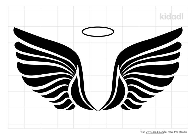 simple-angel-wings-stencil