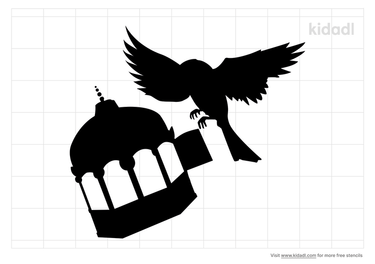 simple-bird-and-cage-stencil