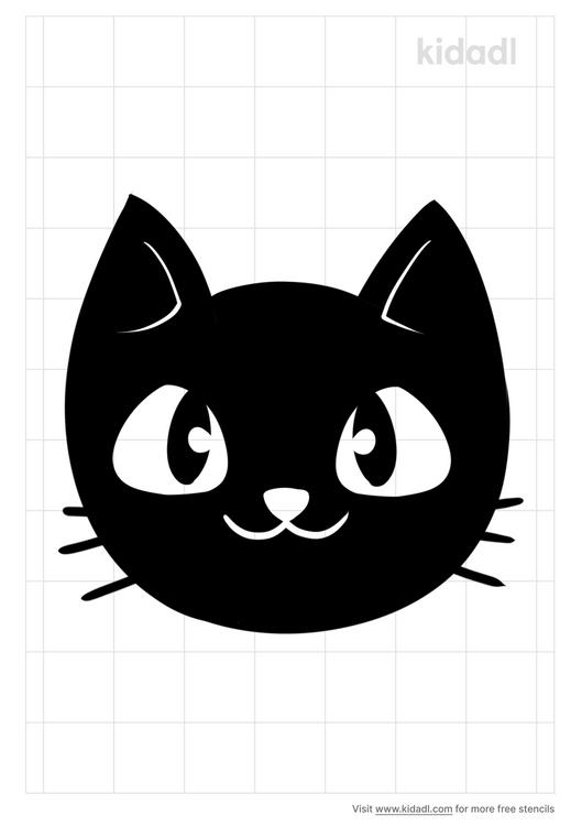 simple-black-cat-head-stencil