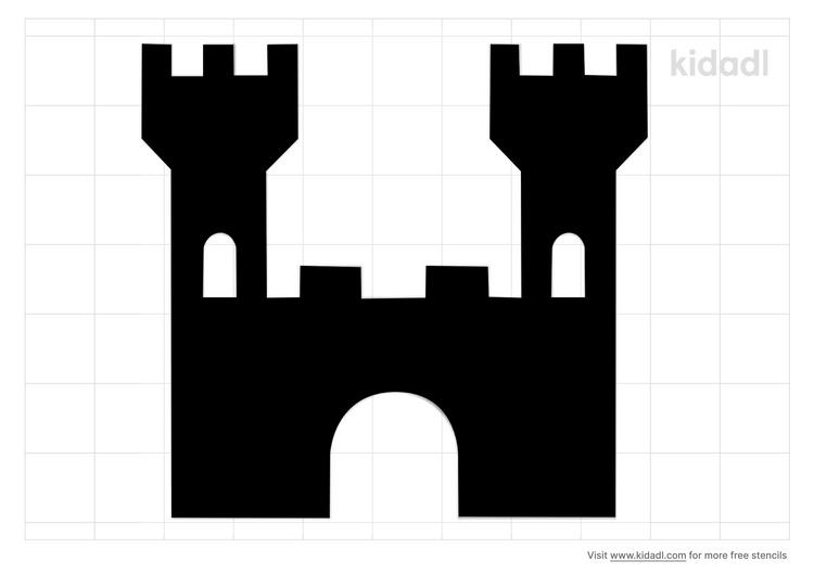 simple-castle-tower-stencil
