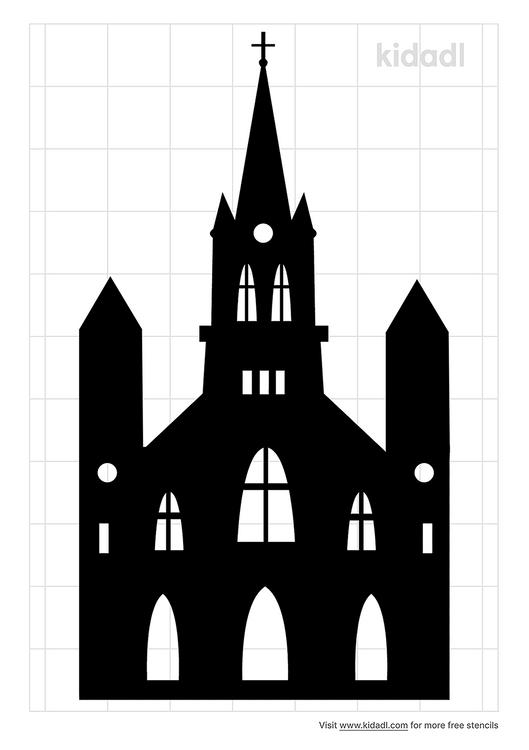 simple-church-stencil