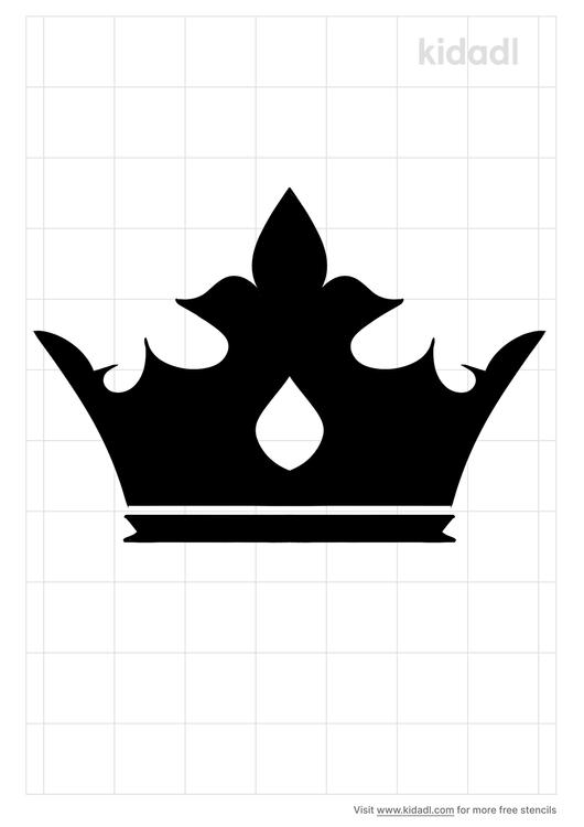 simple-crown-stencil