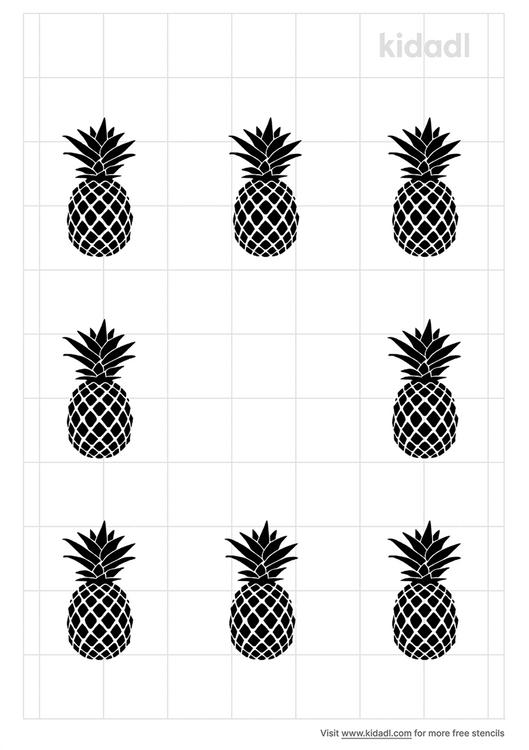simple-pineapple-border-stencil