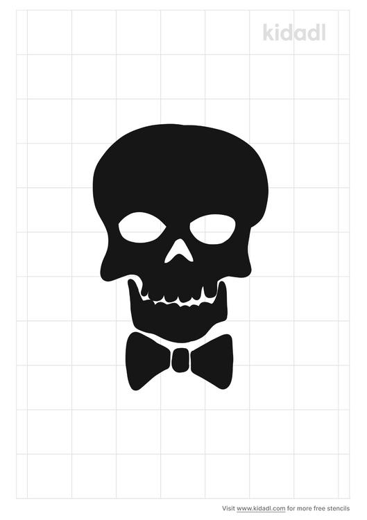 skull-bow-stencil