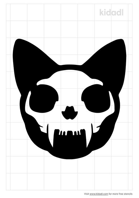 skull-cat-stencil