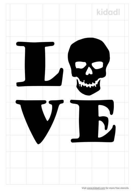 skull-love-stencil
