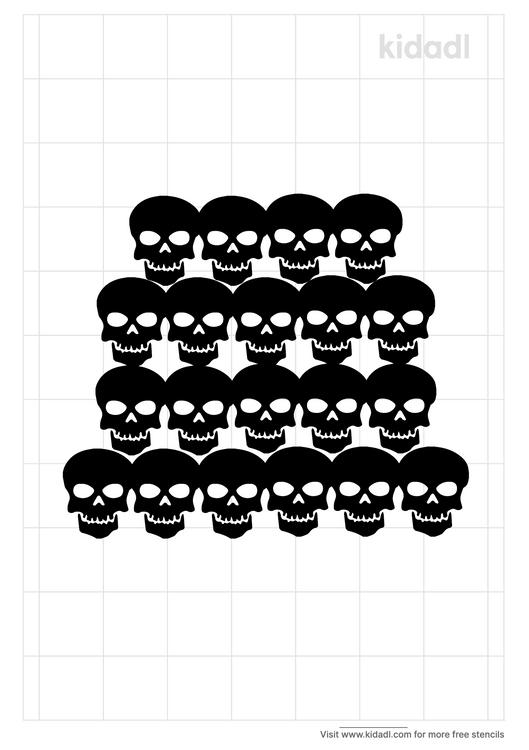skull-pile-stencil