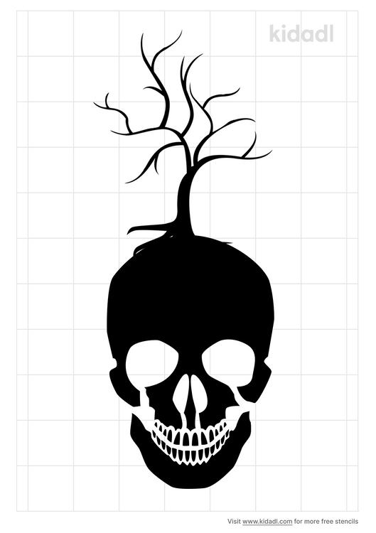 skull-tree-stencil